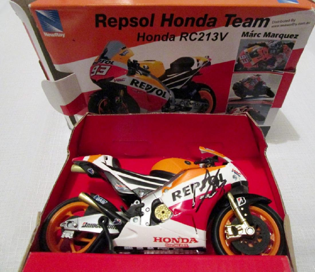 Marc Márquez signed scale model of his Repsol Honda