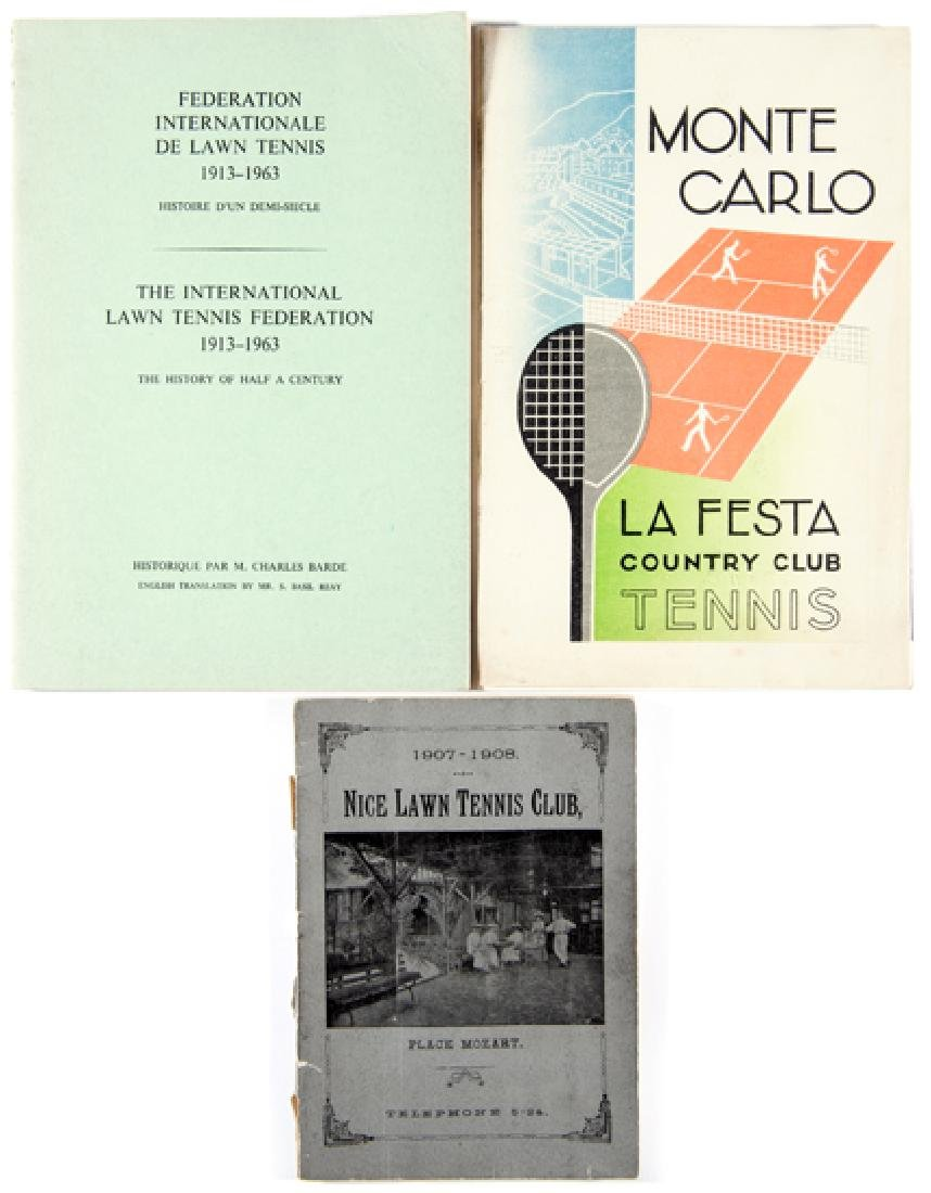 Three lawn tennis publications of French interest, Nice