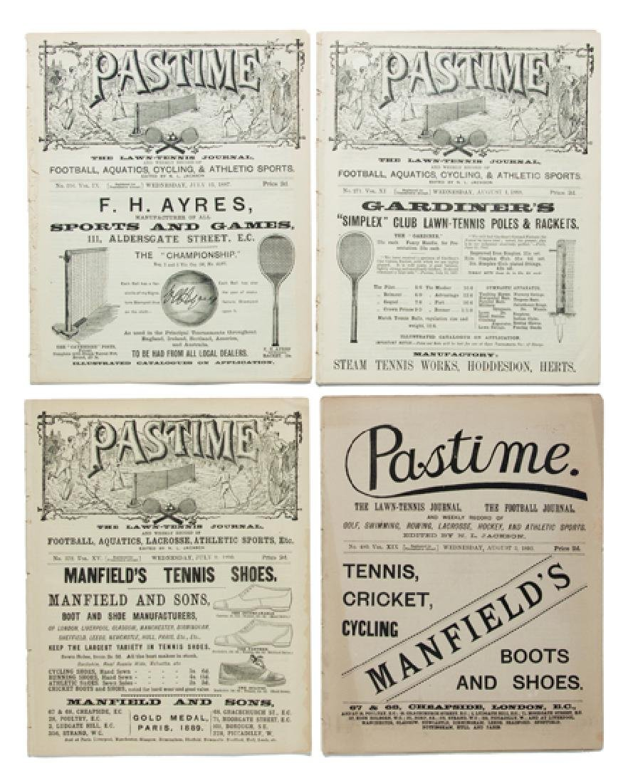 Early tennis magazines, comprising five editions of