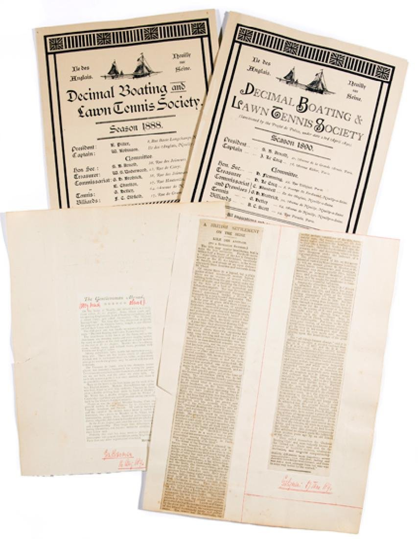 Two prospectuses published in 1888 and 1890 by the