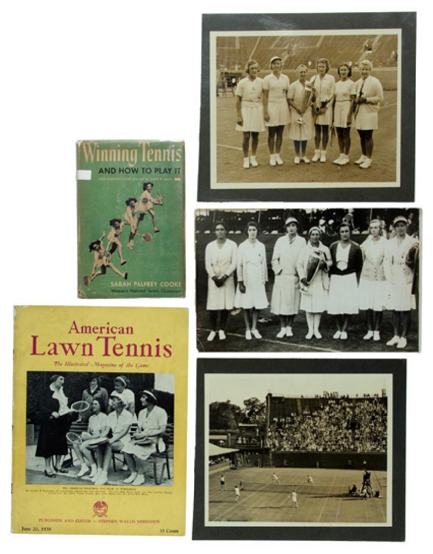 Memorabilia relating to US tennis player Sarah Palfrey