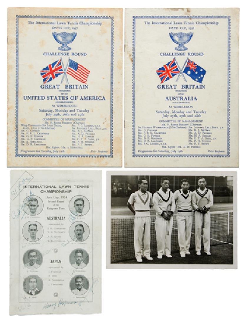 Three Davis Cup Programmes, Comprising Australia v
