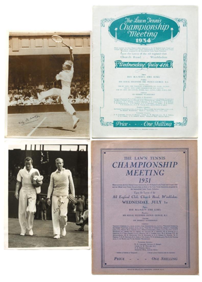 Wimbledon Lawn Tennis Championships programmes for 1931