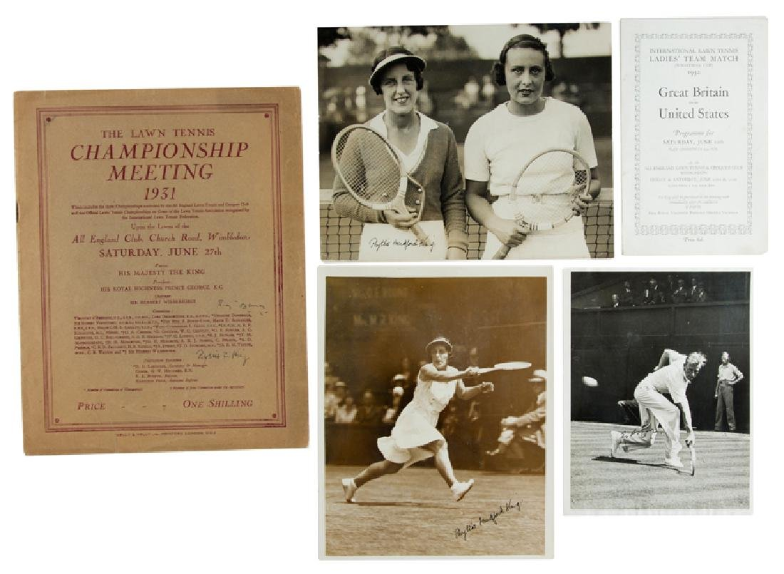 Rare Wimbledon memorabilia, comprising Wimbledon Final