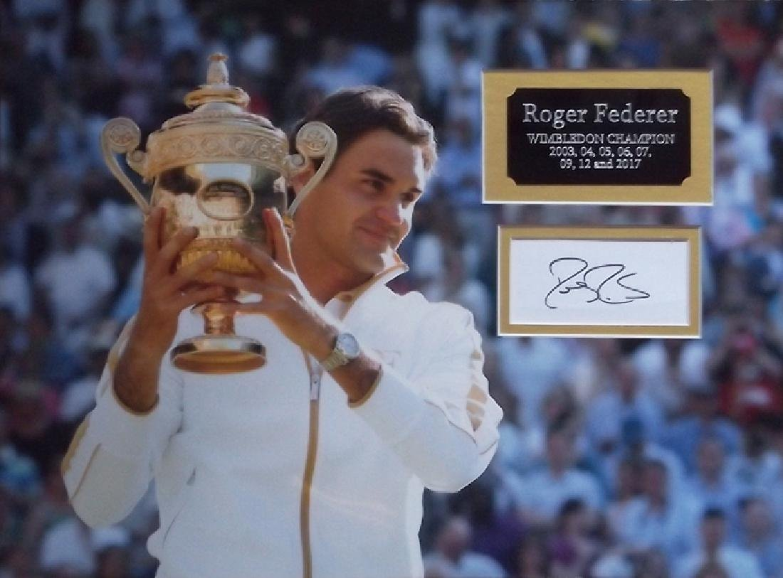 Roger Federer signed and Wimbledon Champion