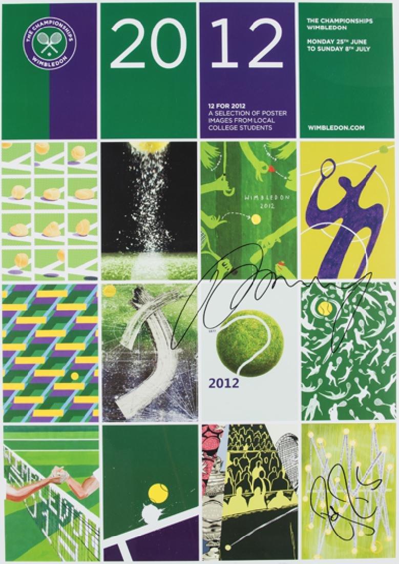 A Wimbledon 2012 lawn Tennis Championships poster