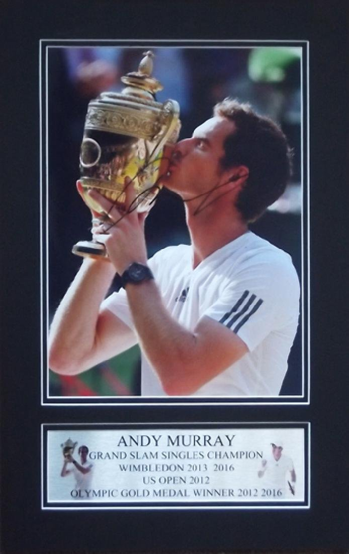 Andy Murray signed Wimbledon Champion photographic