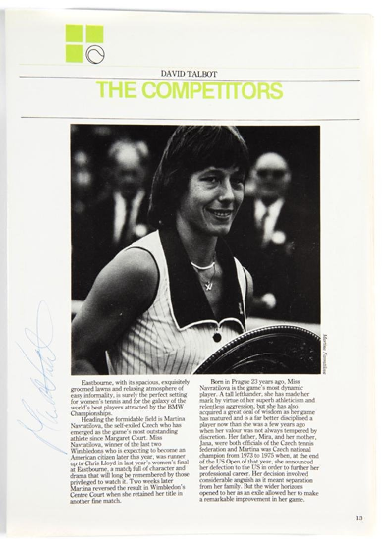 Autographed programme for the BMW Championships for