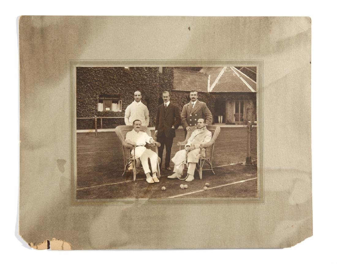 Rare period photograph of the British 1912 Davis Cup