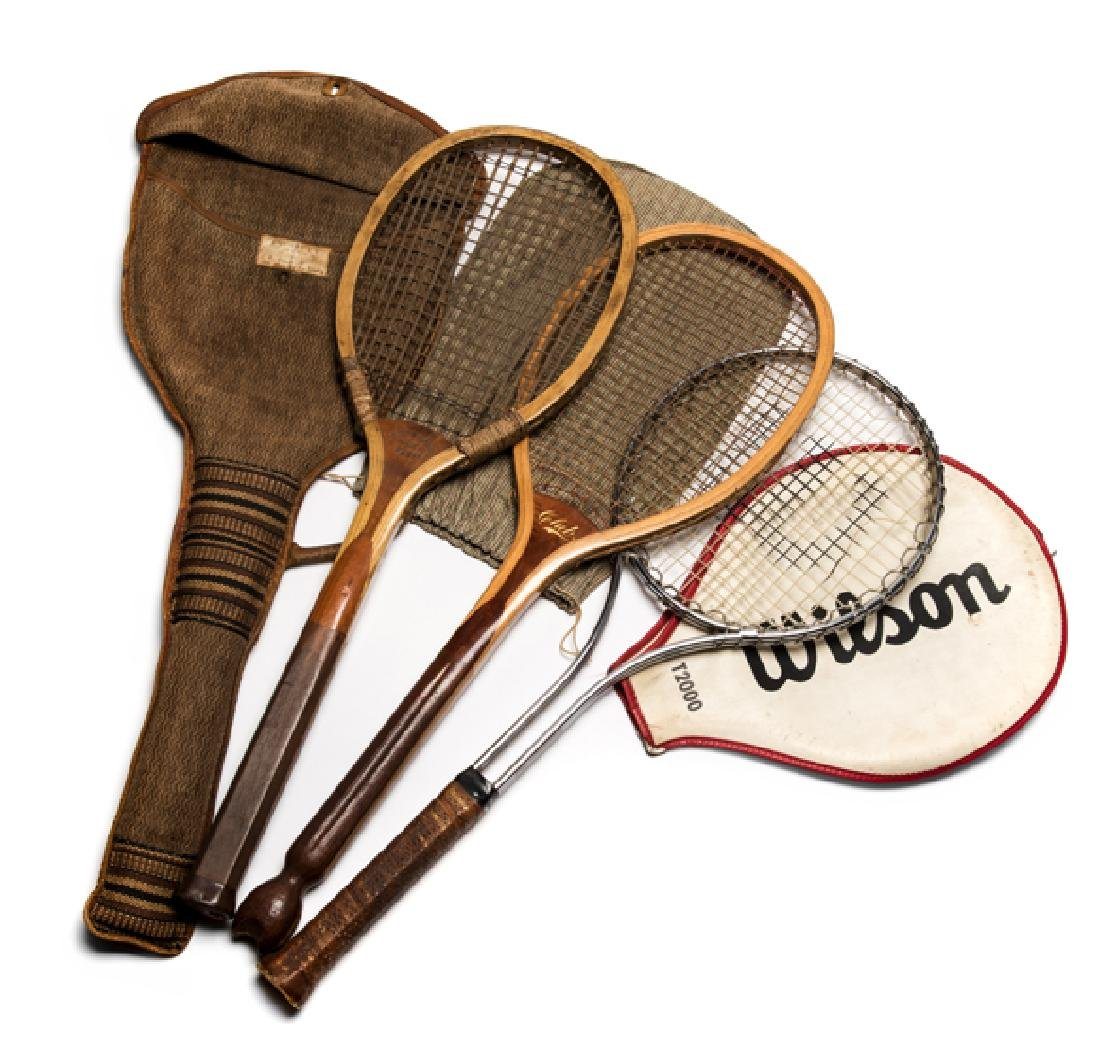 Rare double vertical strings ''The Crown'' lawn tennis
