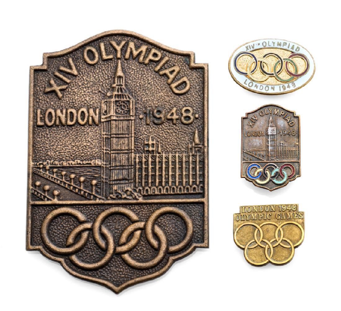 London 1948 Olympic Games presentation bronze plaque,