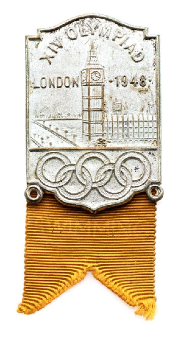 London 1948 Olympic Games Official's badge, silvered