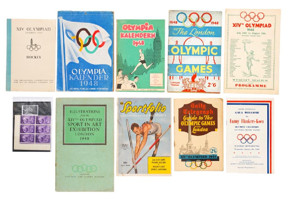 London 1948 Olympic Games publications, comprising: a