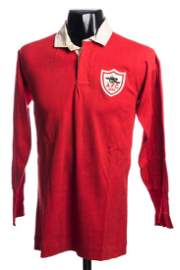 Cliff Bastin's red Arsenal 1930 F.A. Cup Final jersey,