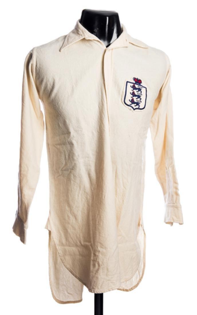 Joe Mercer white England international shirt 1938-39,