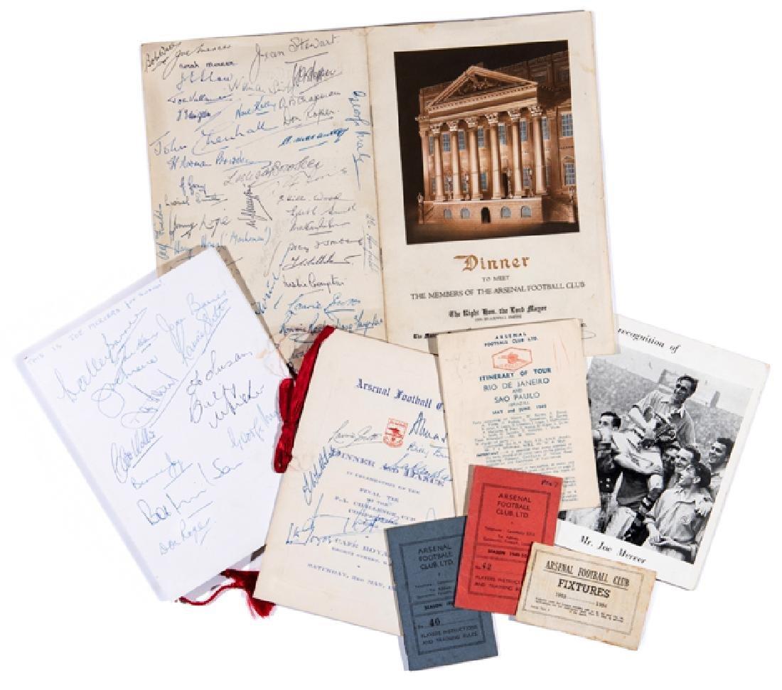 Joe Mercer Arsenal FC memorabilia, including an