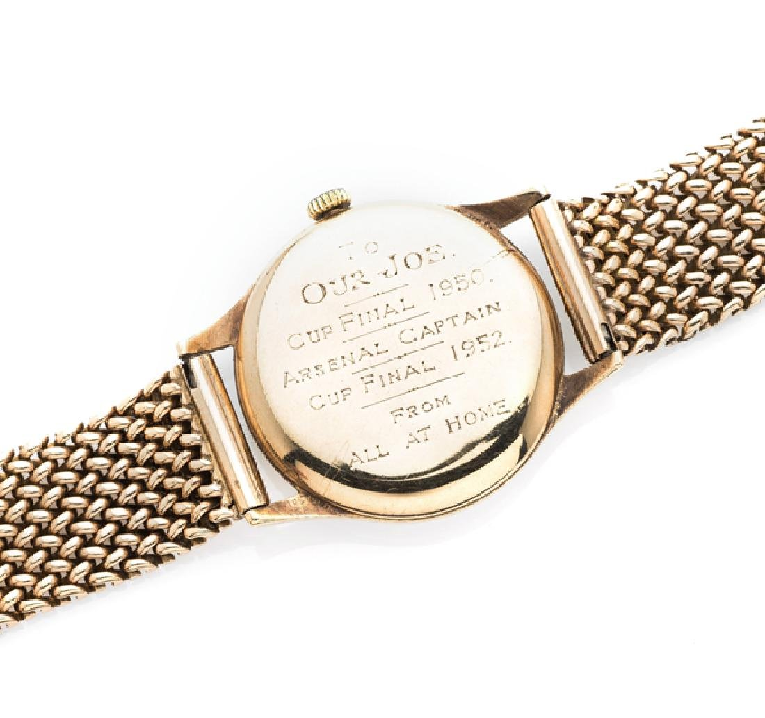 9ct. gold Omega gentlemen's wristwatch presented to the