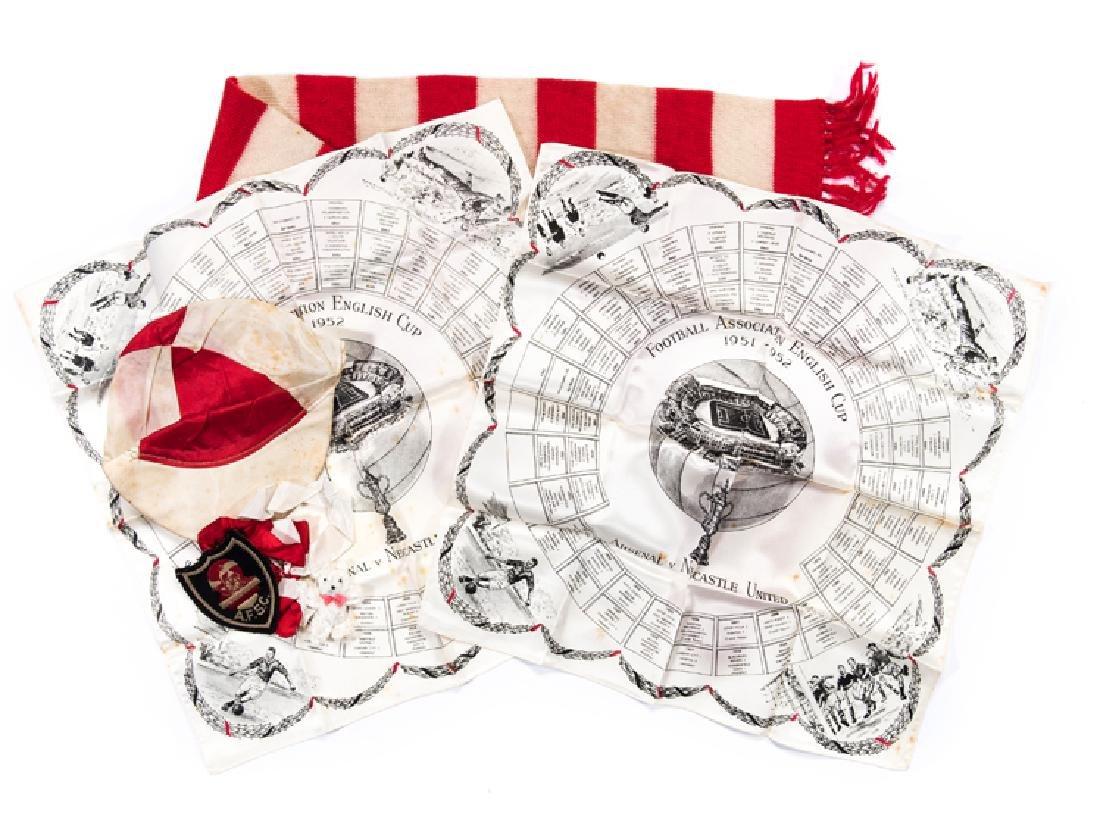 Arsenal 1952 F.A. Cup Final supporter's memorabilia, a