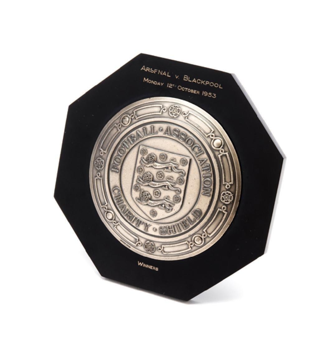 Joe Mercer Arsenal FC silver miniature replica of the