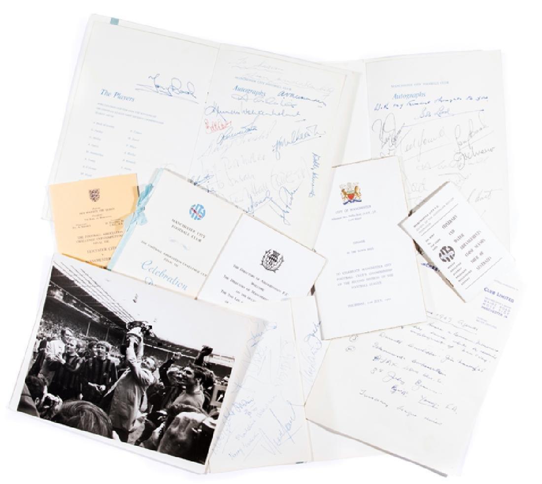 Joe Mercer Manchester City FC memorabilia, including a