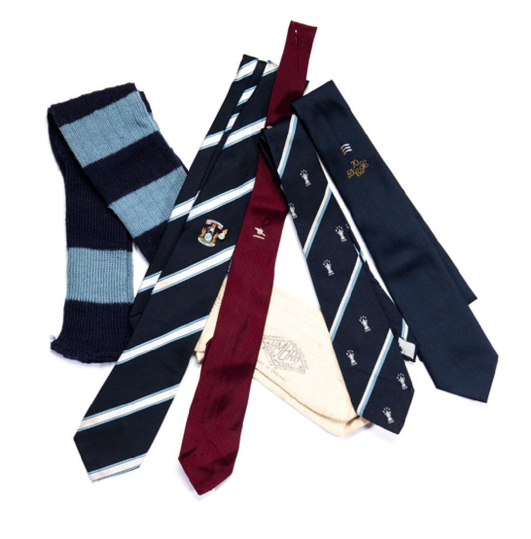 A pair of Manchester City playing socks, sold together
