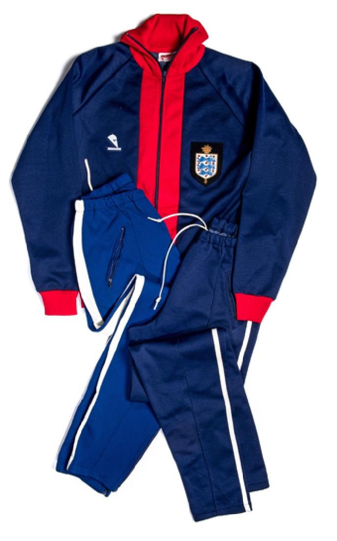 Joe Mercer Football Association coach's blue & red