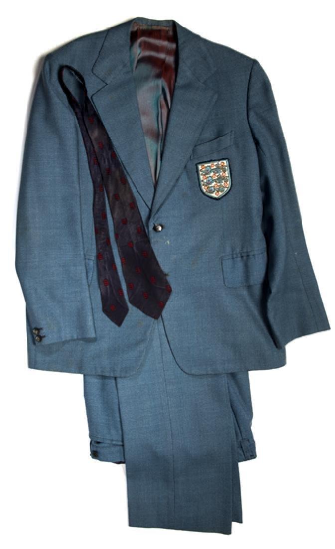 Joe Mercer's England manager's suit 1974, light-blue