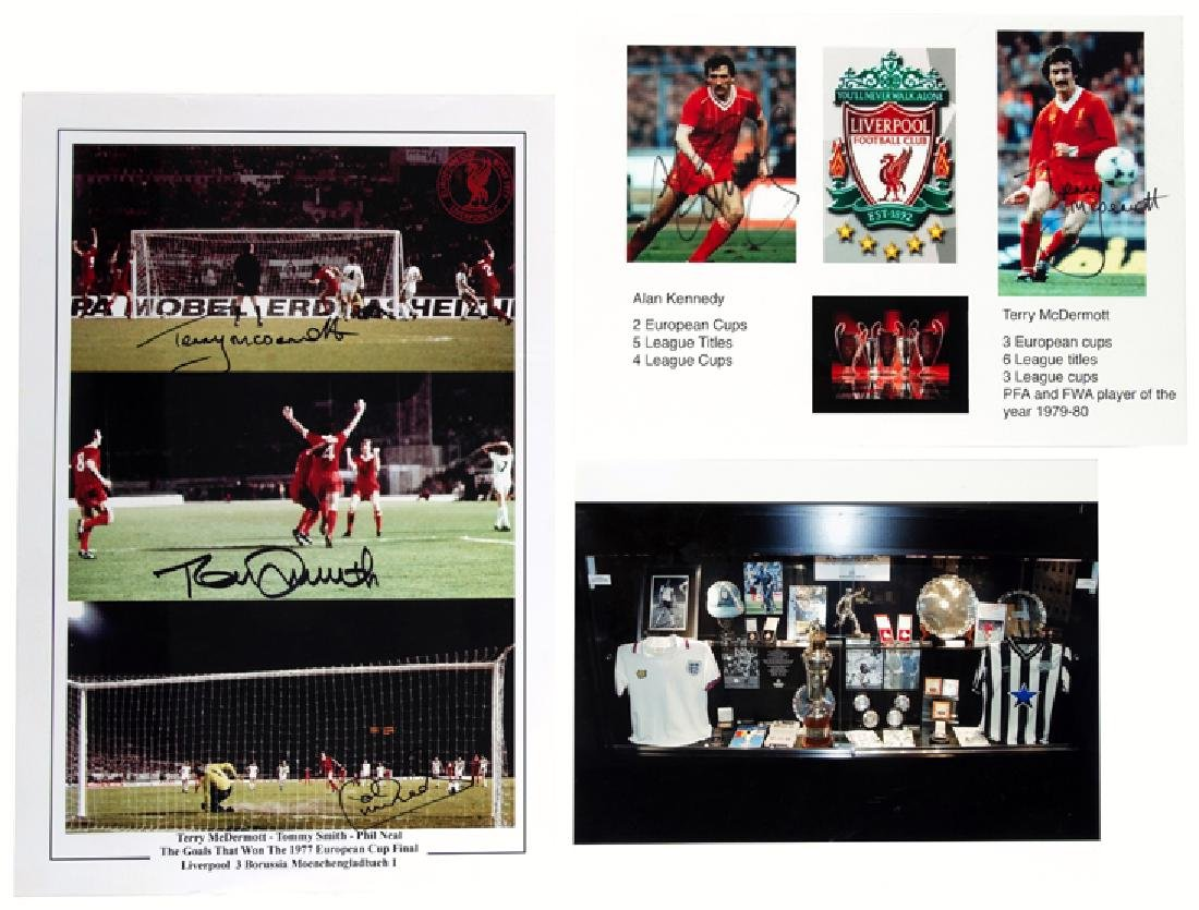Two multi-signed photographs from the Terry McDermott