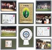 Leeds United 1972 F.A. Cup Final framed memorabilia
