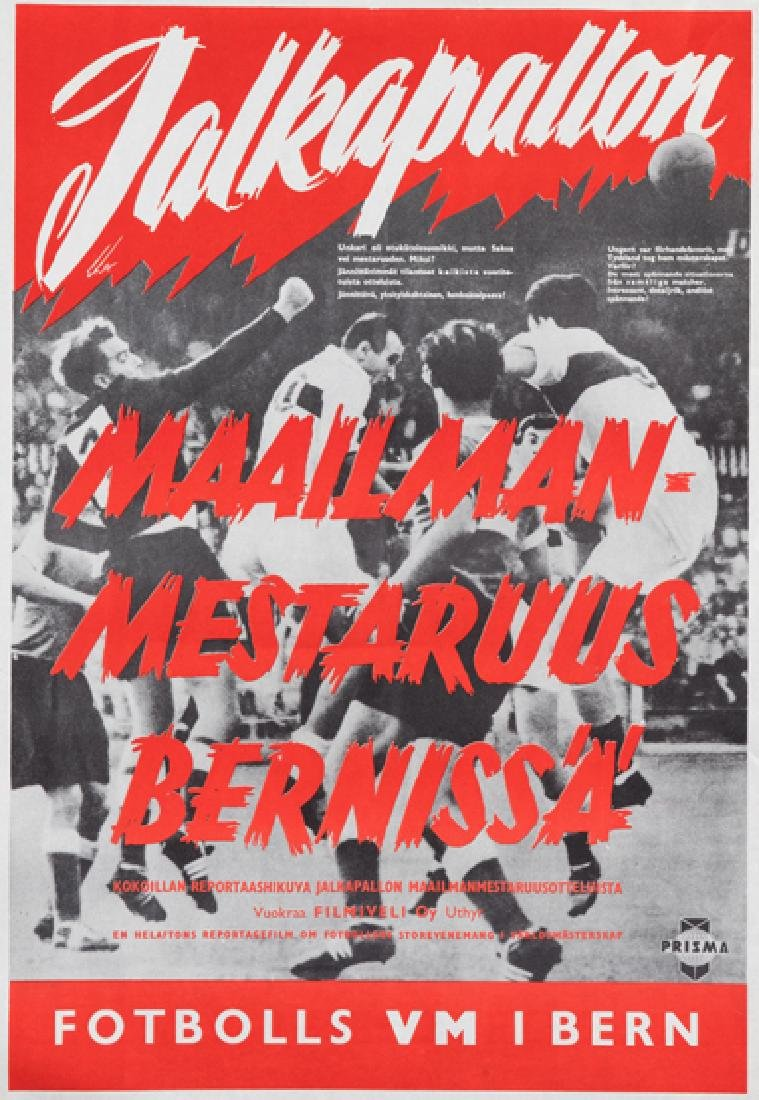 Three World Cup posters, comprising: a 1954 World Cup
