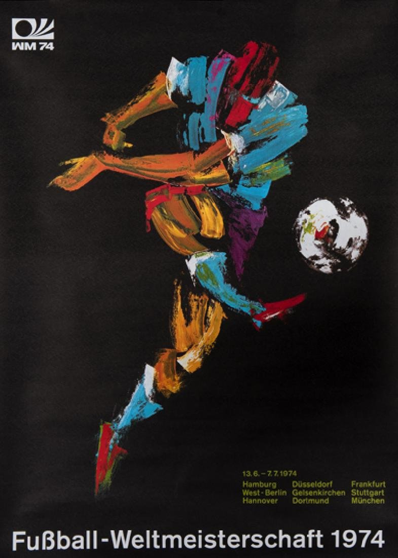Three World Cup posters, comprising: a 1954 World Cup - 2