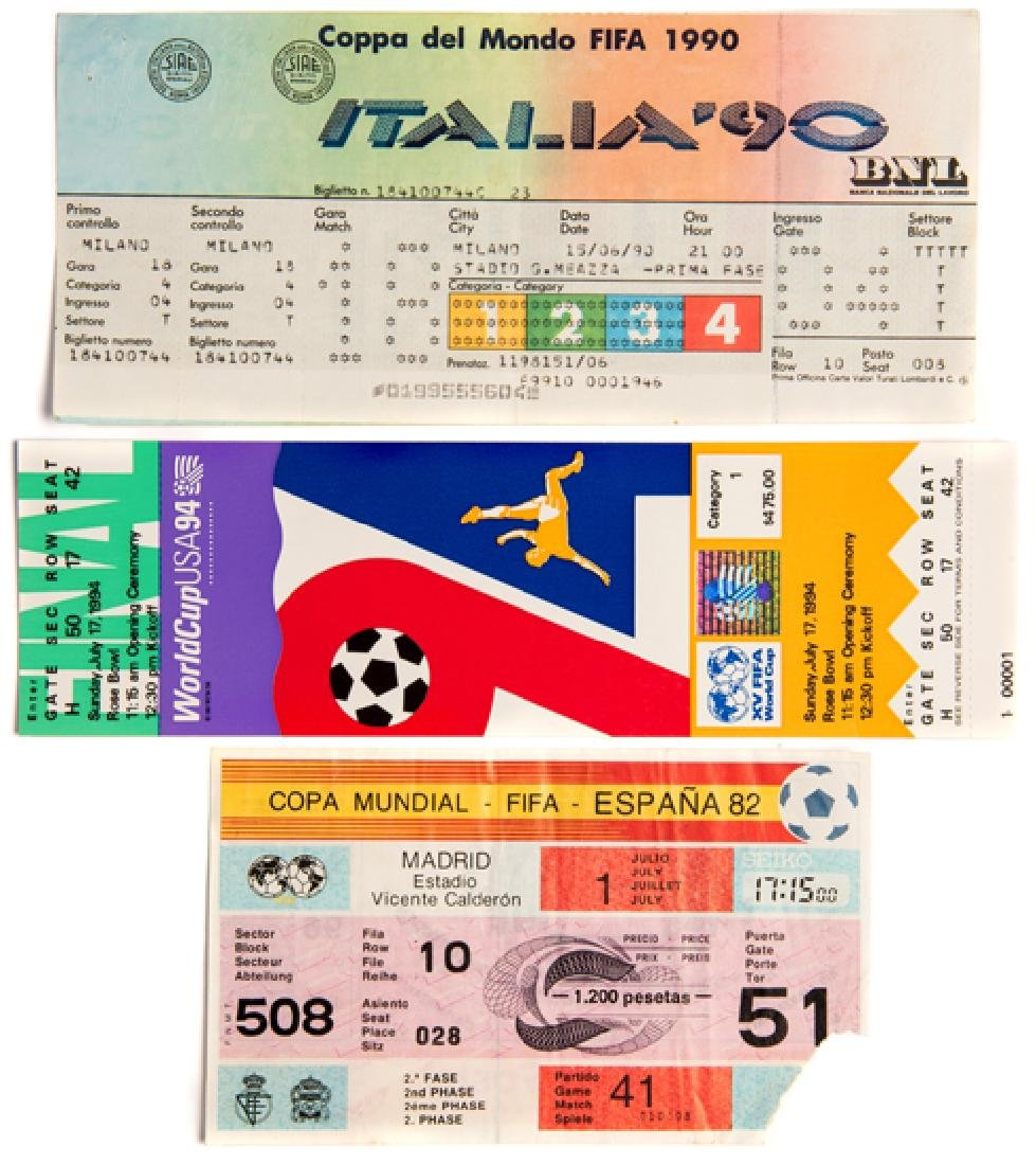 A collection of 25 World Cup tickets from the 1982,