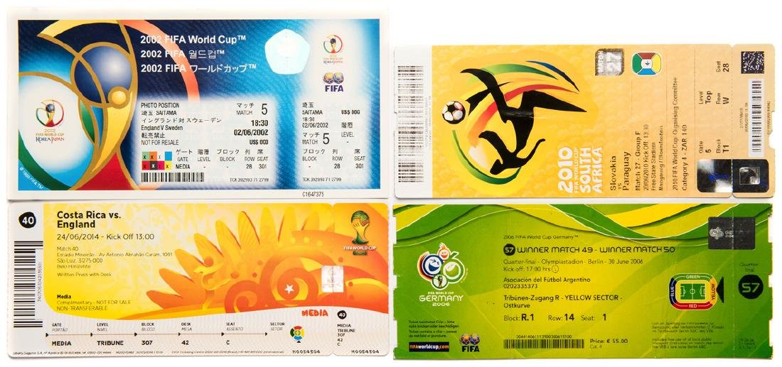 A collection of 101 tickets from the 2002, 2006, 2010 &