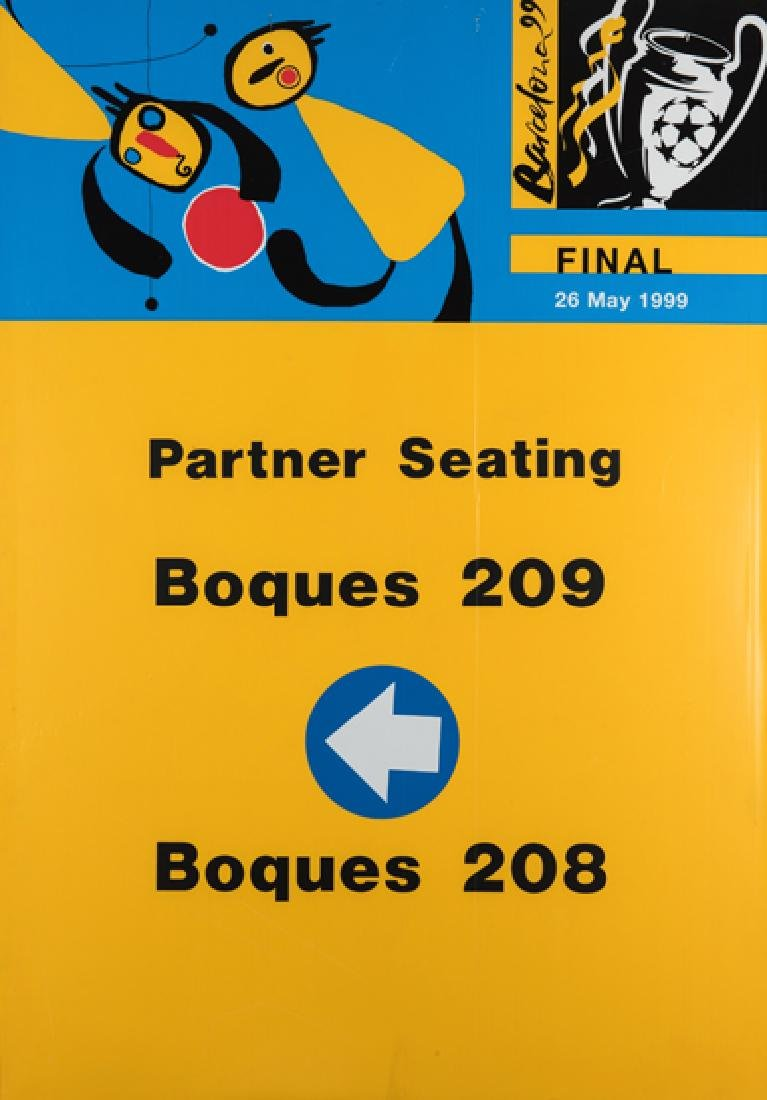 Camp Nou signage from the 1999 Champions League Final