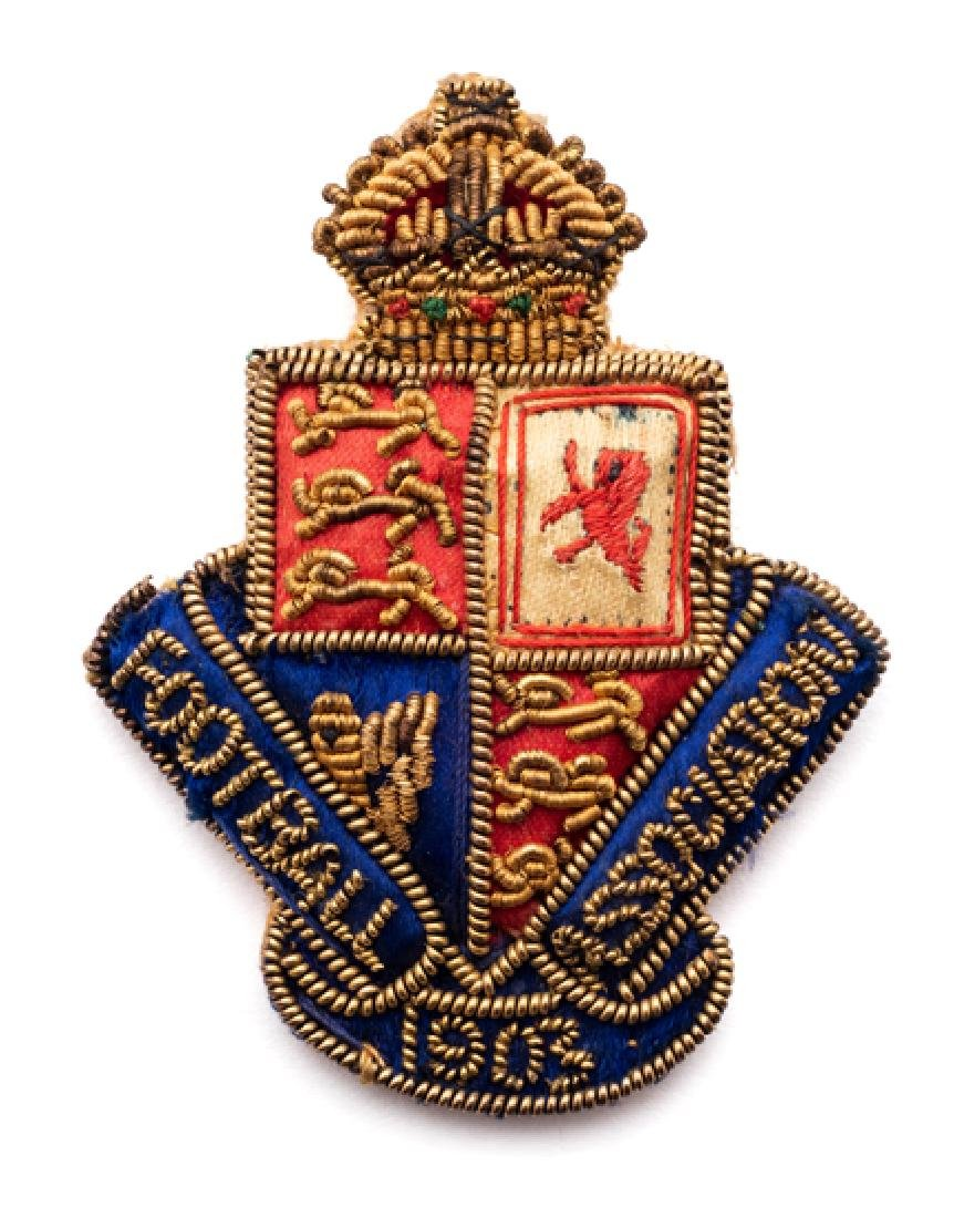 Football Association badge issued to Councillor William