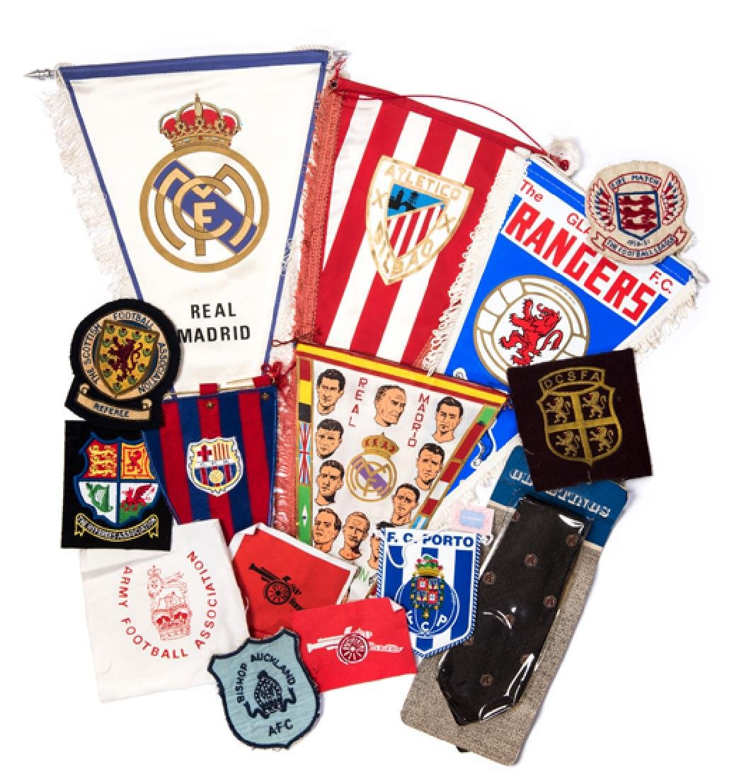 Eight cloth football blazer/shirt badges, i) Football