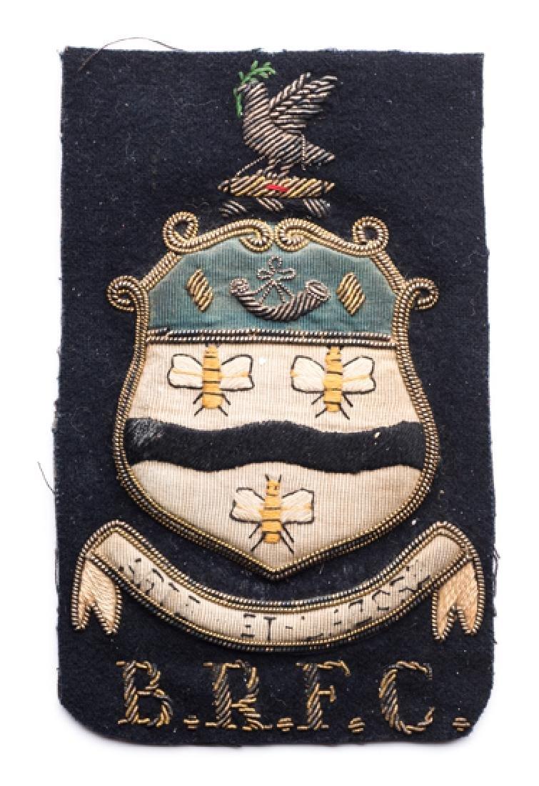 A Blackburn Rovers Football Club blazer badge,