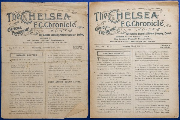 1001: Chelsea v Crystal Palace First World War London F