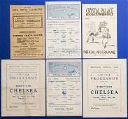 1285 Three Chelsea wartime away programmes season 1940