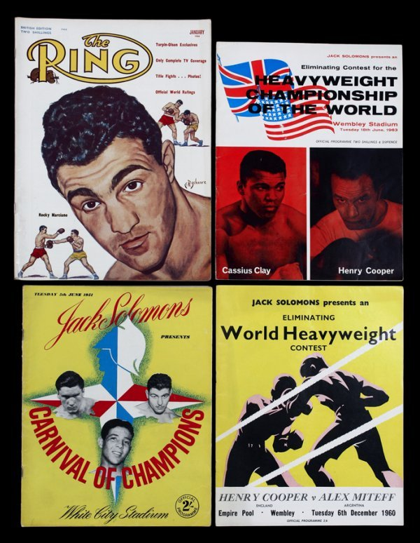 14: A collection of 52 boxing programmes,  for various