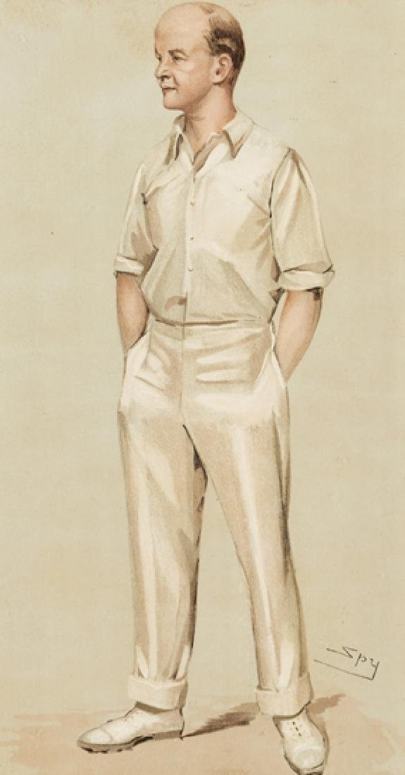 A collection of 14 Vanity Fair prints of cricketers and