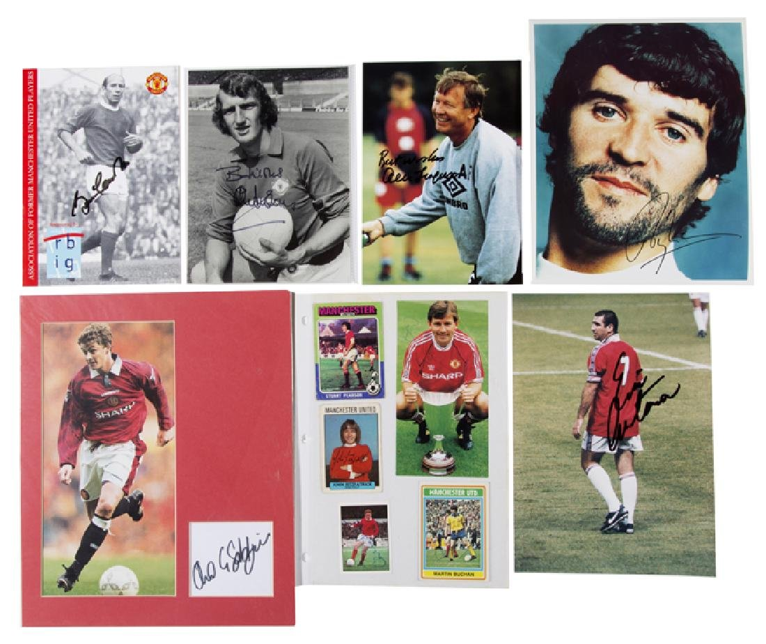 Manchester United autographs collection, signed
