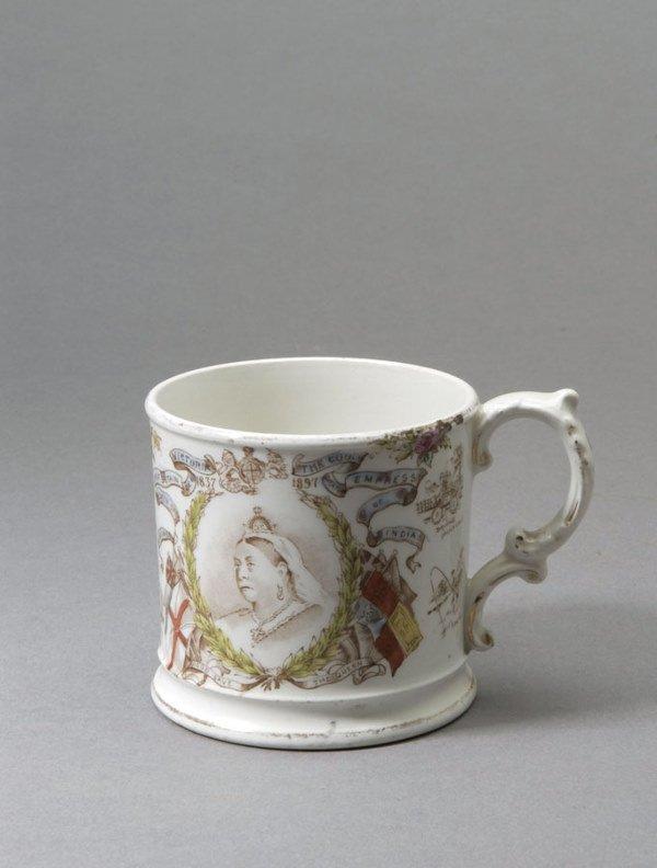 758: A pottery mug commemorating Queen Victoria's Diamo