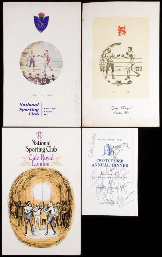 768: A Collection of boxing programmes and menu cards d