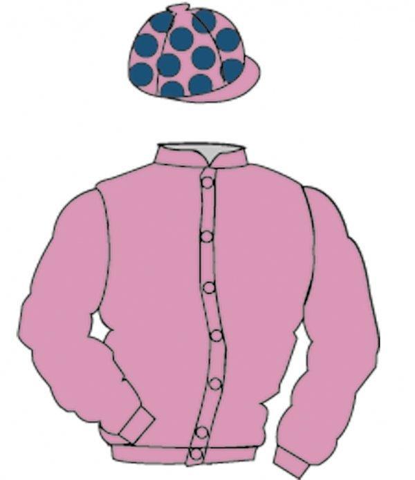 5: Distinctive Colours: PINK, DARK BLUE spots on cap