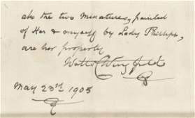 362 A rare example of the signature of Major Walter Wi