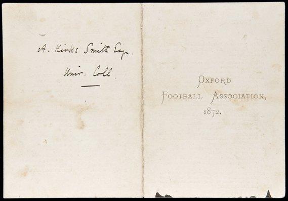 670: Arnold Kirke-Smith's Oxford Football Association m