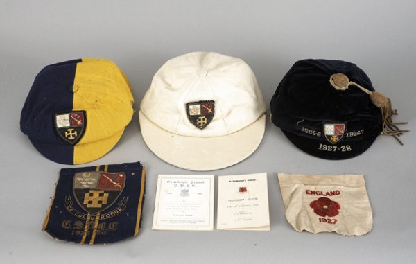 678: Sporting caps and memorabilia relating to Cranleig