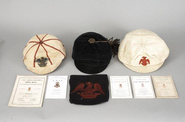 679: Sporting caps and memorabilia relating to C.O.S. H