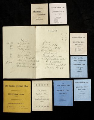 682: Casuals FC Christmas Tour itineraries, for 1893-94
